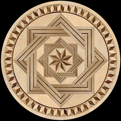 medalion-cu-intarsie-parchet-masiv-model-8-Rays-FD-I-Round-oas