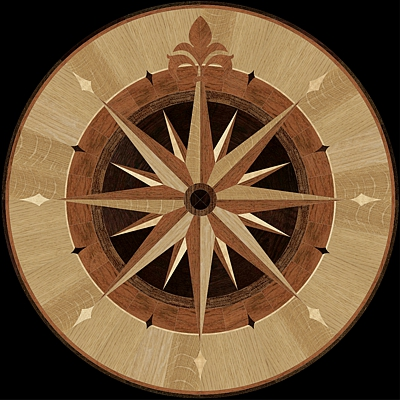medalion-cu-intarsie-parchet-masiv-model-MQM3-Compass-III-owass