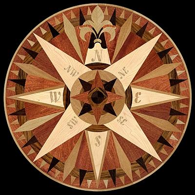 medalion-cu-intarsie-parchet-masiv-model-MQM4-Compass-IV