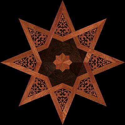 medalion-cu-intarsie-parchet-masiv-model-MQM8-Oriental